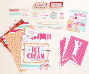 Free Ice Cream Themed Printables