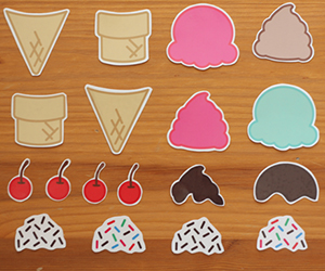 Ice Cream Temporary Tattoos