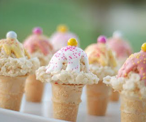 Rice Krispies Treats Ice Cream Cones