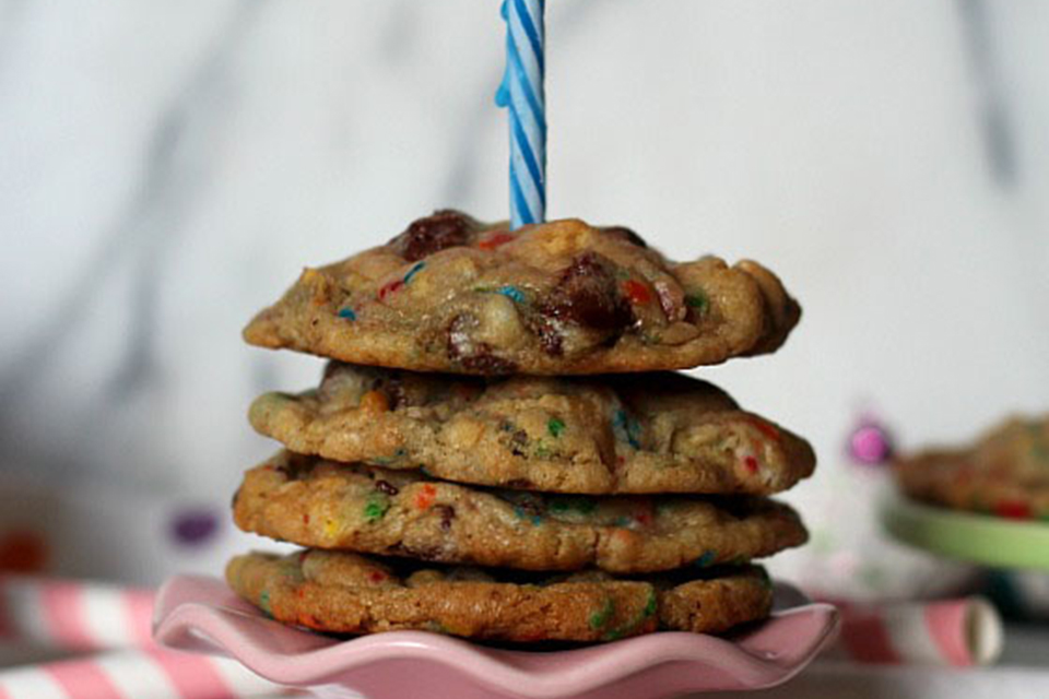 5 Birthday Cake Chocolate Chip Cookies