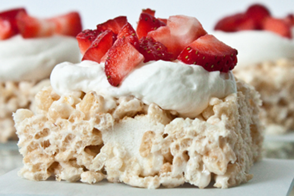 Strawberry Shortcake Rice Krispies Treats